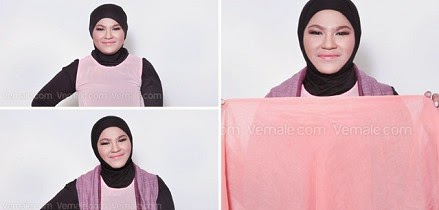Cara memakai shawl untuk muka bulat myideasbedroom com