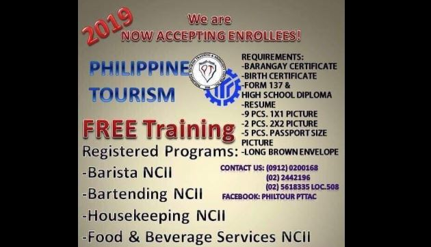 4 Training Programs Offered by Philippine Tourism Center (FREE)