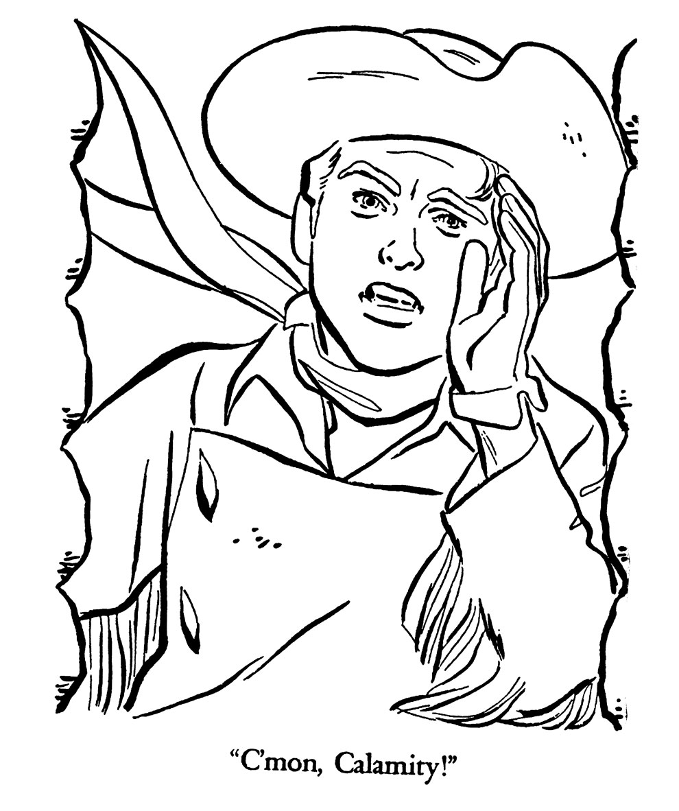 davy crocket coloring pages - photo#22
