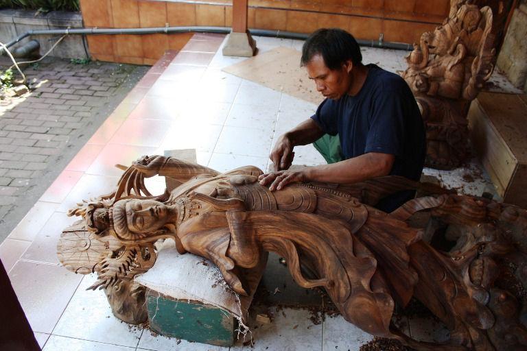 Kerajinan Ukiran Kayu Desa Mas - Desa Mas Gianyar Bali, Liburan, Perjalanan, Objek Wisata