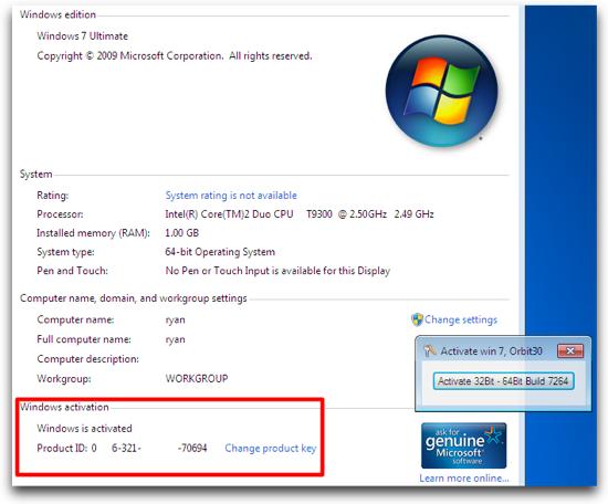 how do i validate windows 7