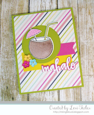 Mahalo card-designed by Lori Tecler/Inking Aloud-stamps and dies from Reverse Confetti