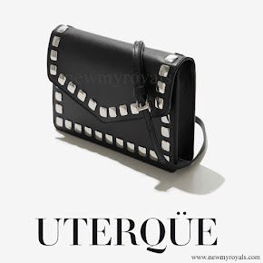 Queen Letizia Uterque Studded messenger bag