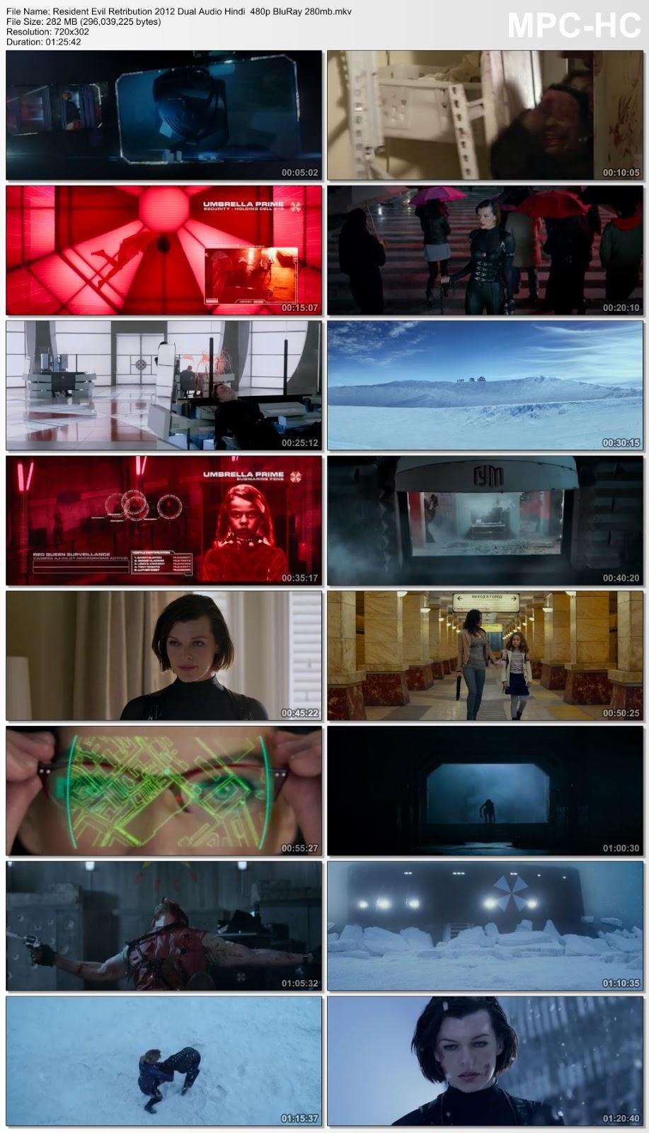 Resident Evil Retribution 2012 Dual Audio Hindi 480p BluRay 300MB Desirehub