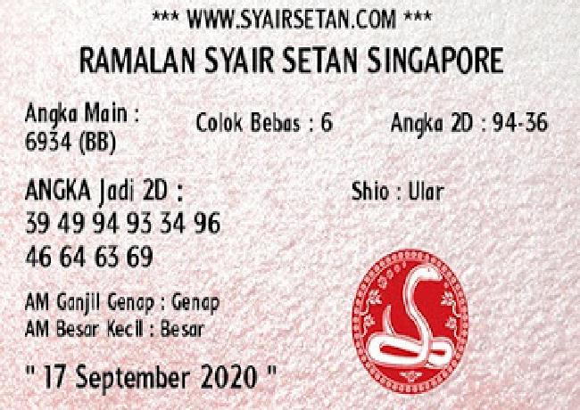 Kode syair Singapore Kamis 17 September 2020 215