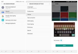 Cara Mengubah dan Menyesuaikan Keyboard Galaxy S8 begini caranya