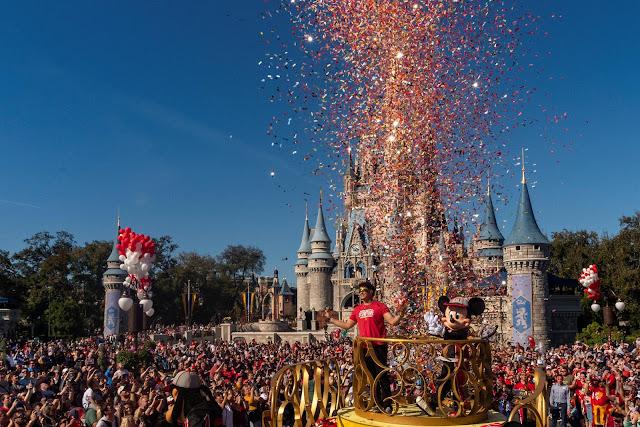 Super Bowl Magic Kingdom Patrick Mahomes victory parade