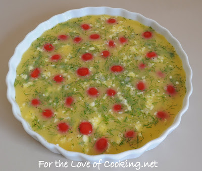 Tomato, Feta, and Fresh Dill Frittata