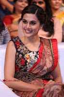 Tapsee Pannu Latest Stills in Red Silk Saree at Anando hma Pre Release Event .COM 0081.JPG