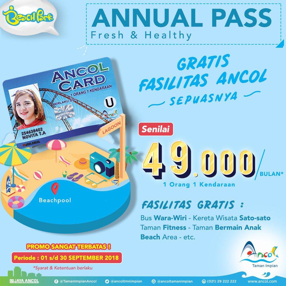 Ancol - Promo Annual Pass & Gratis Fasilitas Ancol Cuma 49 Ribu / Bulan (s.d 30 Sept 2018)