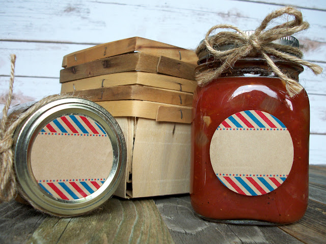 Kraft Stars & Stripes Mason Jar Labels