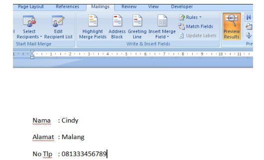 Cara Membuat Mail Merge di MS Word