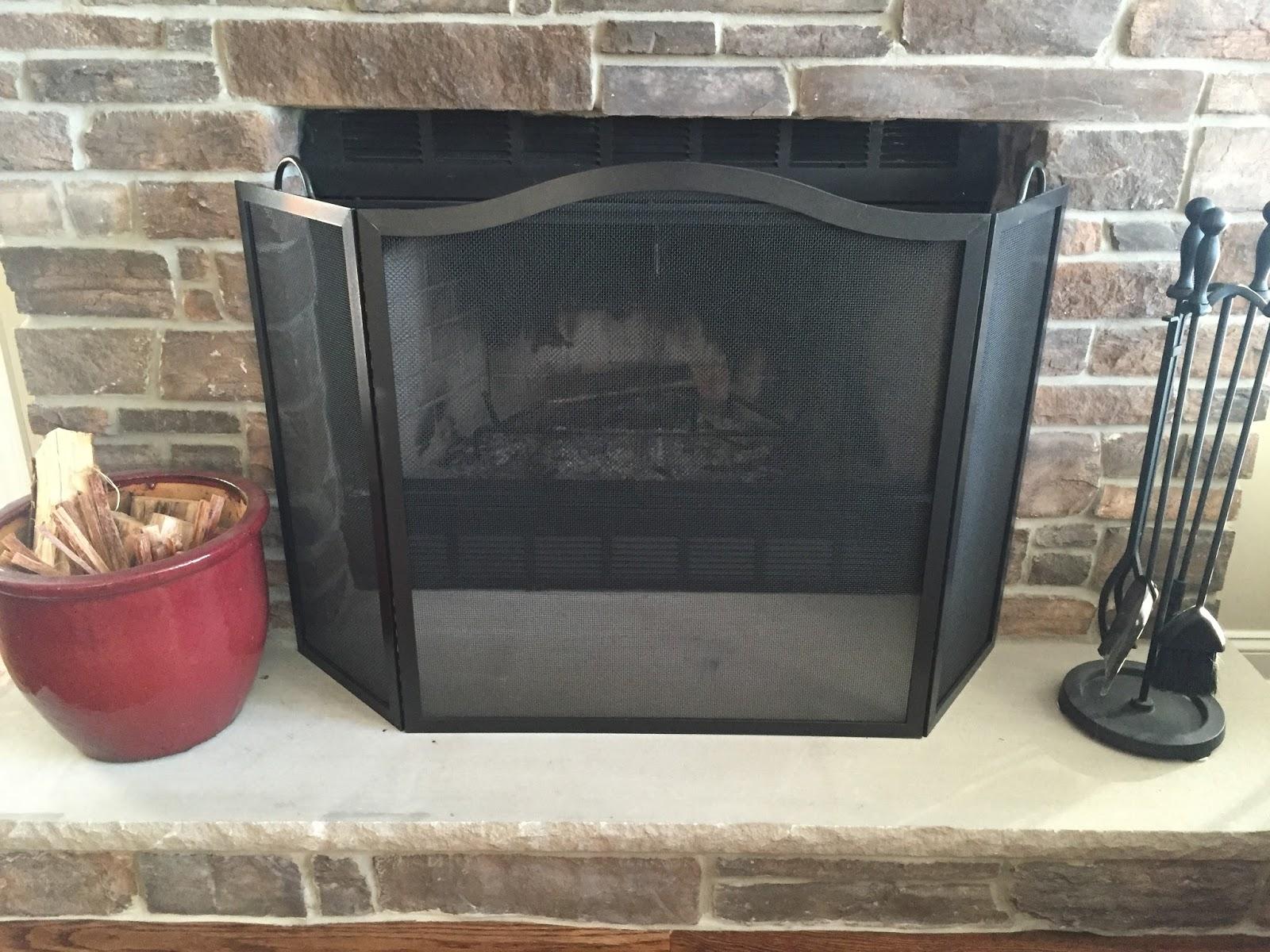 Simple Fireplace Screen