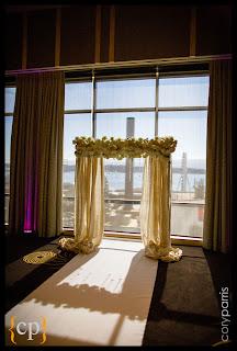 wedding arch, wedding arbor, cream wedding flowers