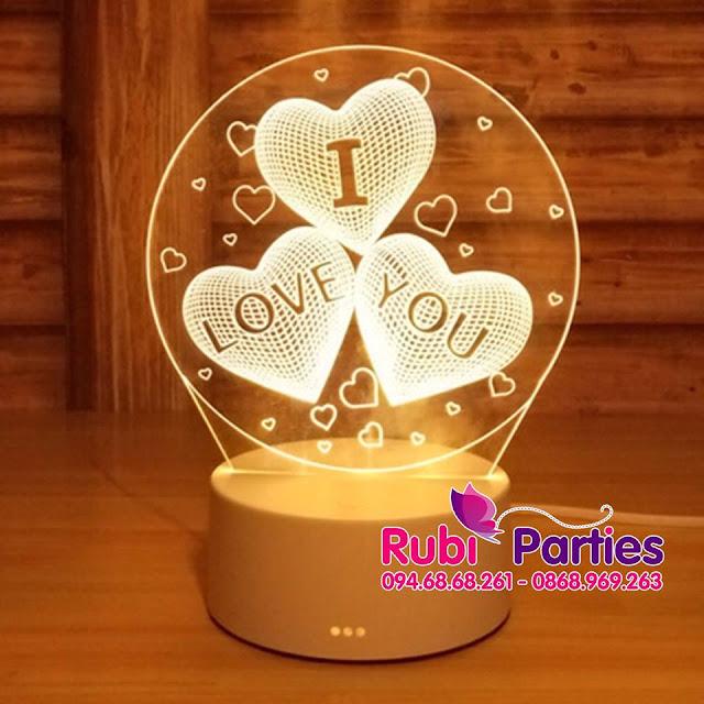 DEN LED 3D HINH TIM I LOVE YOU