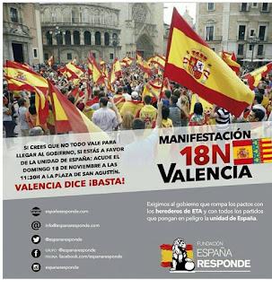 A veure si s´ofeguen. 18 noviembre, Valencia