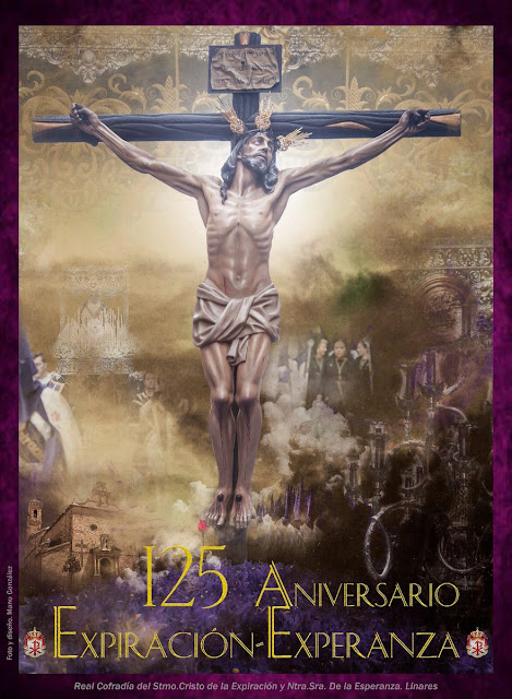 Cartel Oficial del 125 Aniversario de la Hermandad de la Expiración de Linares