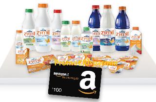 Logo Con Zymil vinci 63 buoni Amazon da 100 euro