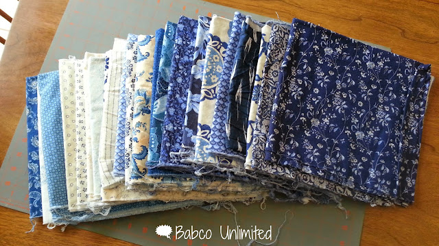 BabcoUnlimited.blogspot.com - Blue & White Fabric