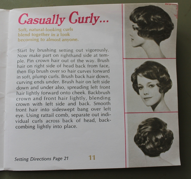 Easy vintage hair style for curly short bob