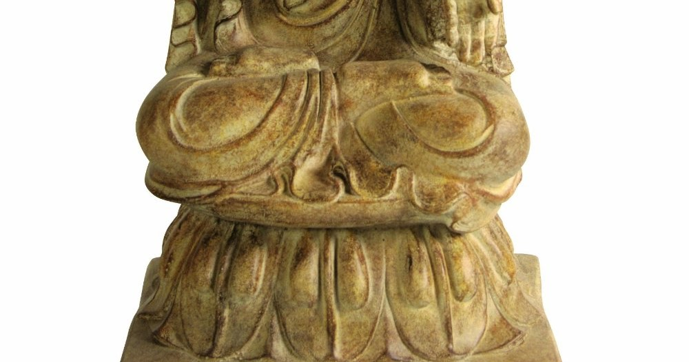 Large Sitting Buddha Garden Statue | Garden Buddha Statues