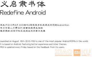 font rekomendasi xiaomi - Yi Kai Lishu Font