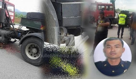 Sayu : Allahu Akbar .. Anggota JPJ maut tragis OTAK bersepai digilis treler ketika bertugas (8 Gambar)