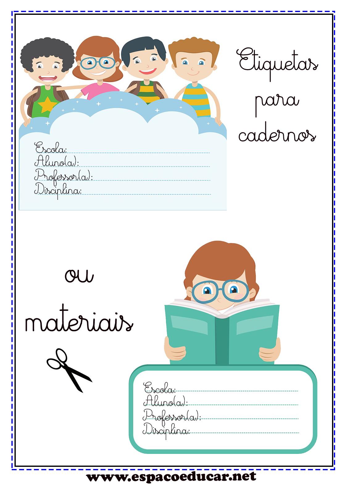 Lindas Etiquetas Para Imprimir Etiquetas Para Cadernos E Livros