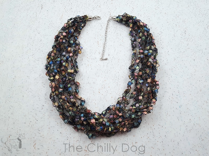Crochet Pattern Ladder Yarn Necklace The Chilly Dog