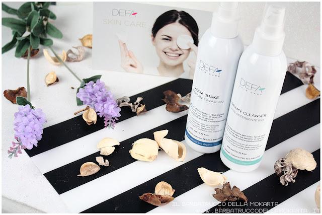 creamy cleanser aqua shake bifasico defa cosmetics bio latte detergente defa cosmetics  skin care bio cosmesi