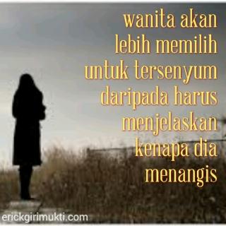 gambar kata kata isi hati wanita yang sedih menangis terluka