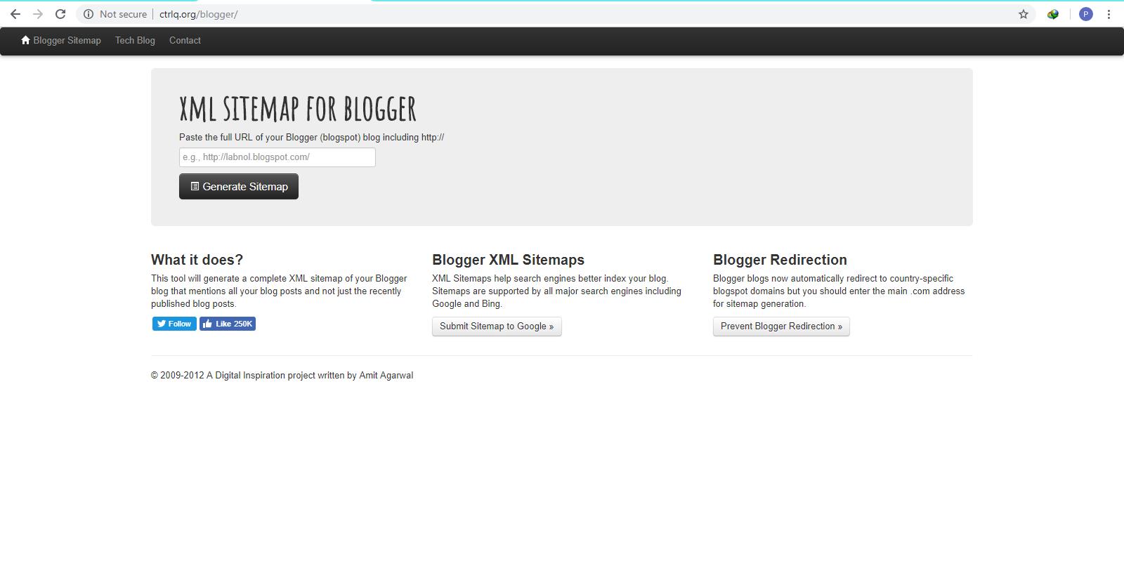 blogger ctrlq sitemap generator
