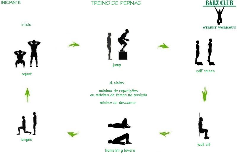 Populares Barz Club Street Workout: Street Workout Iniciante - Treino de Pernas JR57