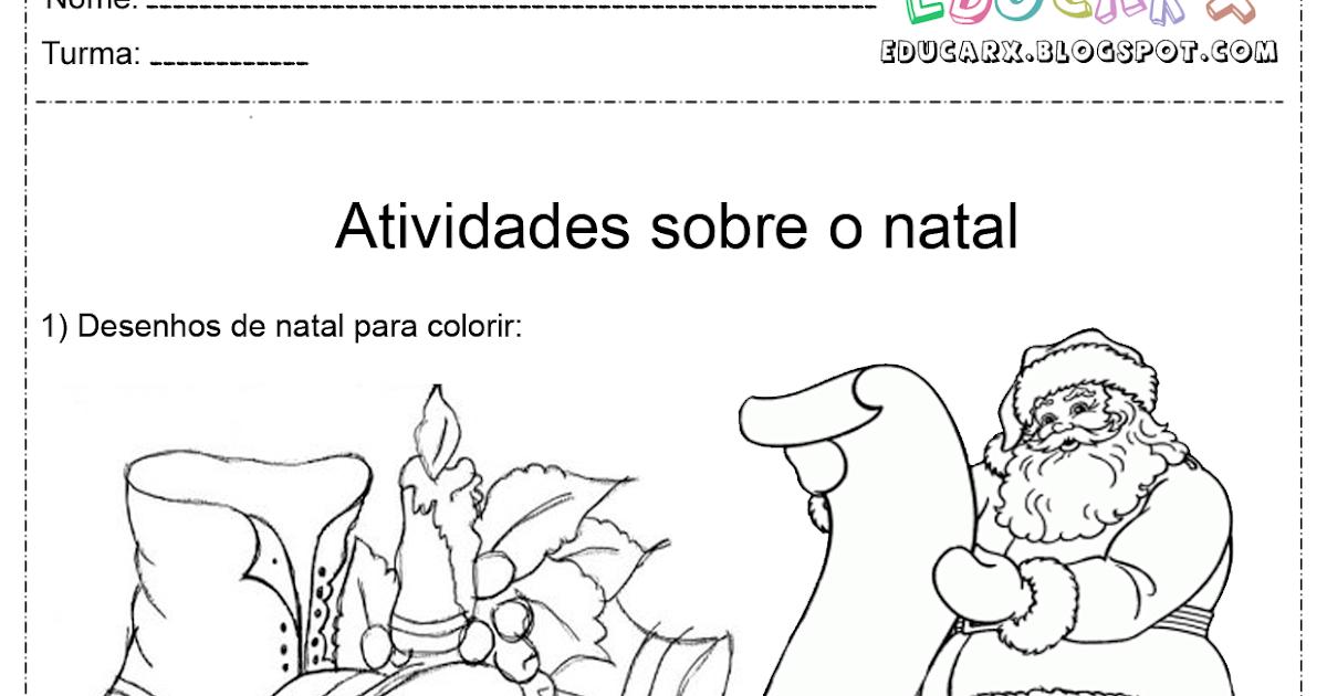 Atividades Escolares: Desenhos De Natal Para Colorir