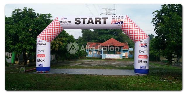 Pusat Rental Balon Gate Start Finish Bahan Flexi