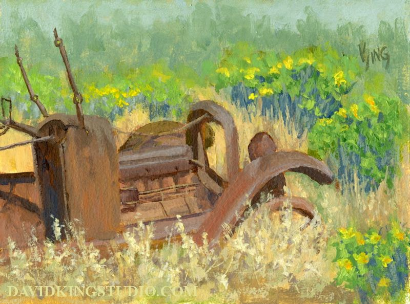 art painting car Mitchell abandoned junk rust