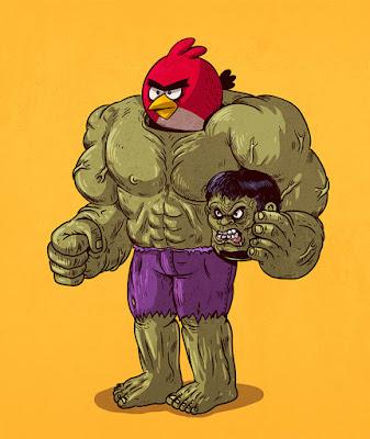 Hulk en realidad es en Angry bird.