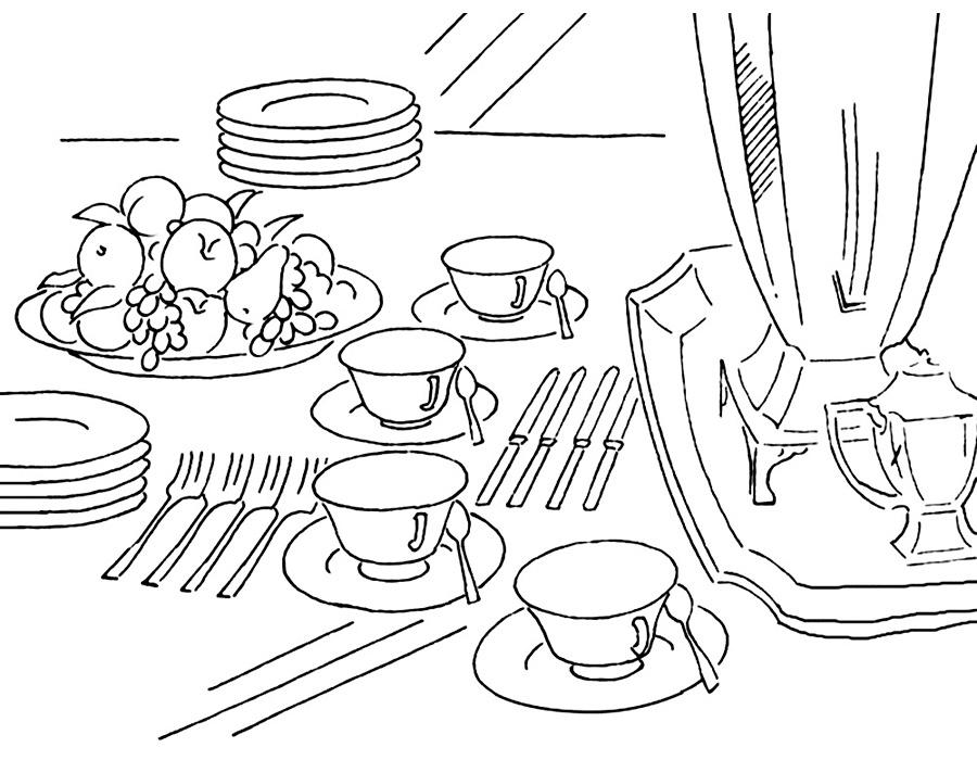 101 Gambar Arsiran Alat Dapur Terlihat Keren