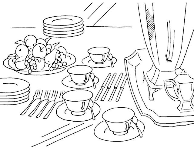 Gambar Mewarnai Peralatan Dapur - 7