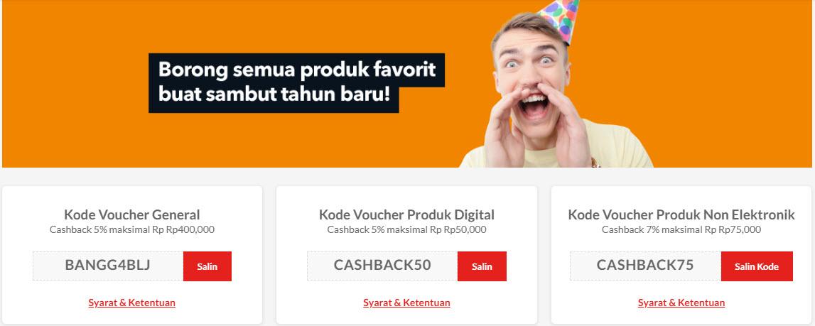 #Blanja - Promo Voucher Cashback 5% Max Mulai 50K