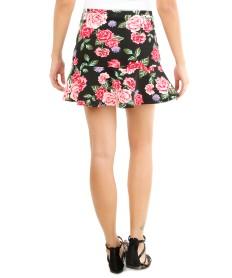 modelo de mini saia florida com babados - fotos e looks