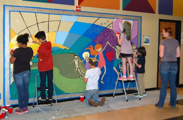in lak'ech, student mural, social justice mural, kids mural, portland muralist, portland artist