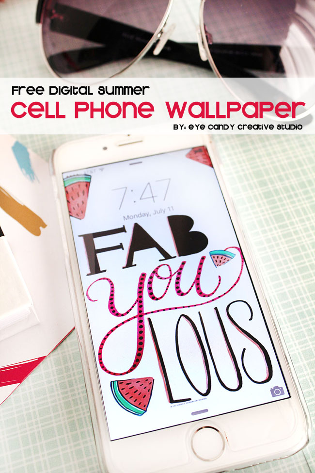 free digital summer cell phone wallpaper, cell phone background, fabyoulous