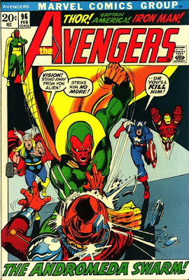 Avengers #96, the Vision beats up a Skrull, Neal Adams