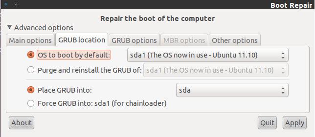 How To Repair/Reinstall The Grub Boot Loader On Ubuntu