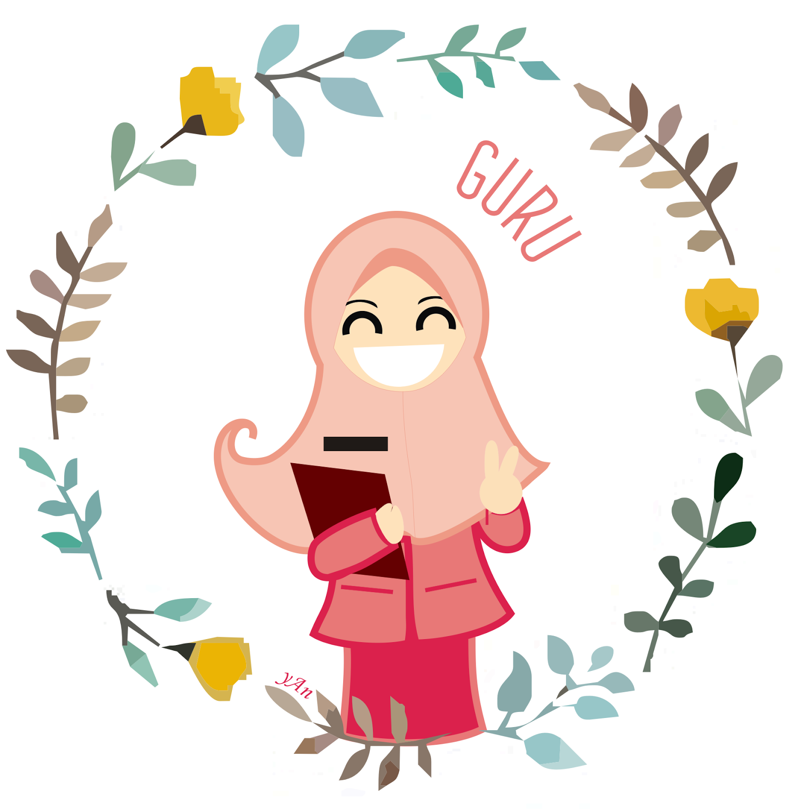 Gambar Kartun Muslimah Guru | Top Gambar