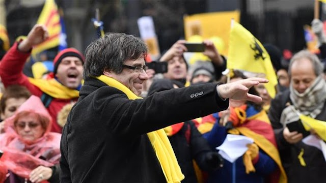 45,000 Catalans march in Brussels to support exiled leader