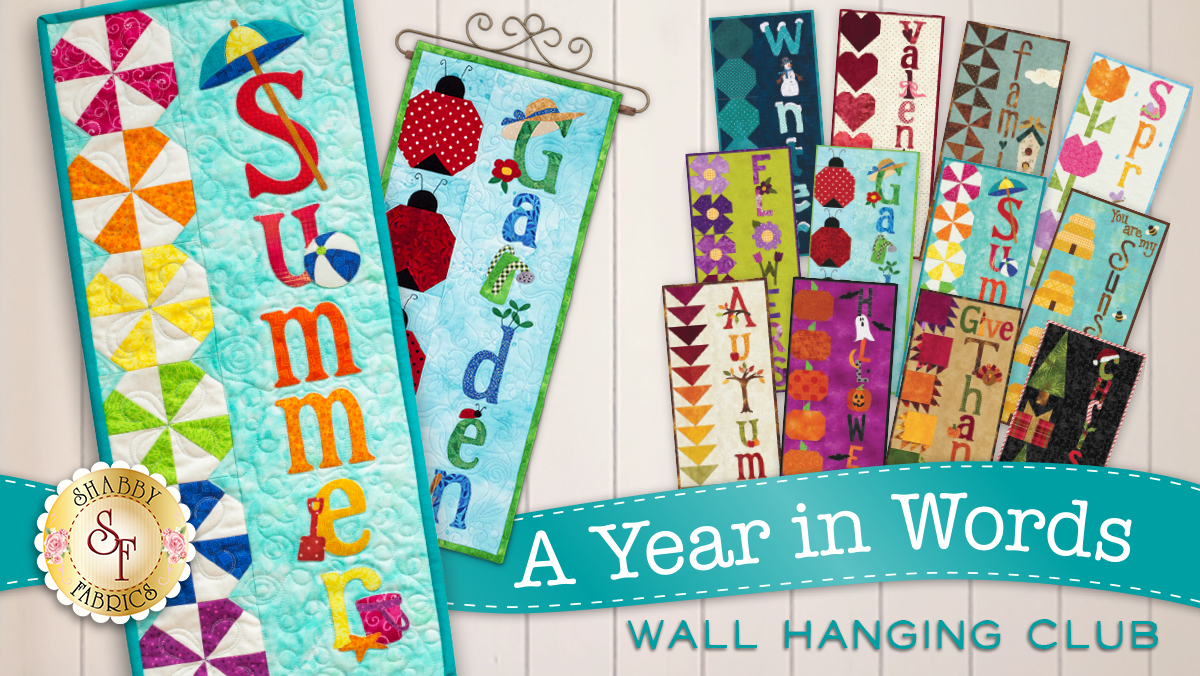 A Year in Words Wall Hanging Club!