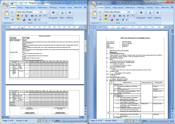 Perangkat Pembelajaran Bahasa Jawa SD Kelas 1 2 3 4 5 6 (RPP, Silabus, PROTA, PROMES)