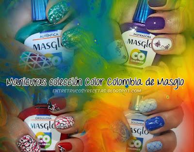 Manicuras con los esmaltes Auténtica, Solidaria, Orgullosa e Inspiradora de Masglo